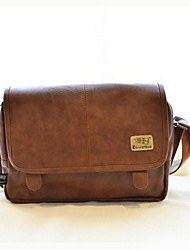 Men PU Casual / Outdoor Shoulder Bag Brown / Black