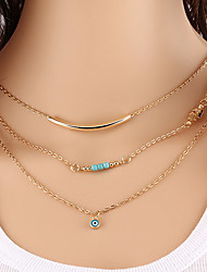 Necklace Choker Necklaces / Vintage Necklaces Jewelry Party / Daily / Casual Fashion Alloy Gold 1pc Gift