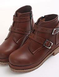 Women's Shoes Suede Winter Comfort Outdoor Low Heel Black / Brown