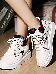 Stylish High-top Shoes Increased  Woman  Shoes