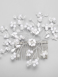 Women's / Flower Girl's Crystal / Alloy / Imitation Pearl Headpiece - Wedding / Special Occasion Hair Combs 1 Piece