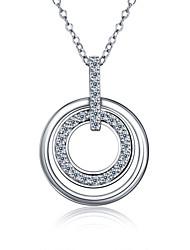 Feest-Sterling zilver / Zirkonia-Ketting met hanger