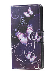 For Nokia Case Wallet / Card Holder / with Stand Case Full Body Case Butterfly Hard PU Leather Nokia Nokia Lumia 950