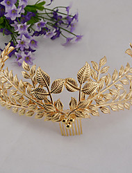 Bride's Leaves Shape Forehead Wedding  Tiaras Hair Combs 1 PC