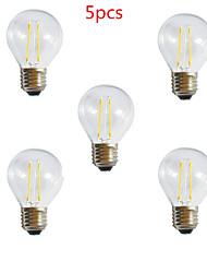 5pcs G45 2w e27 250LM 360 градусов теплый / холодный белый цвет Edison света с лампой накаливания светодиодные лампы накаливания (85-265)