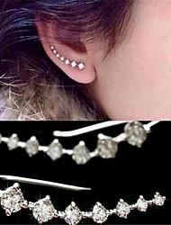 Brincos Curtos Cristal Imitação de Diamante Zircônia cúbica Moda Personalizado Elegant Adorável Cristal Zircão Zircônia Cubica Jóias