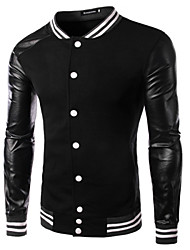 Повседневный - MEN - Пальто и жакеты ( Смешанная хлопковая ткань Подставка - Длинный рукав