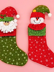 2PCS/LOT Santa Claus&Snowman Christmas Stockings Christmas Decorations For Home Gift Bags for Christmas Gift&Decoration