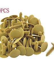 50pcs fechos carro-tipo de pressão retentor clips plástico rebite comprimento 35 milímetros