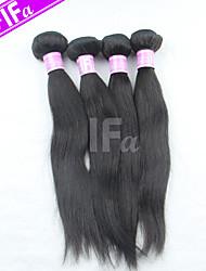 Straight Hair Extension 4Pcs/Lot Peruvian Virgin Hair Human Hair Weaves Natural Black Hair