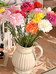 Silk / Plastic Carnation Artificial Flowers
