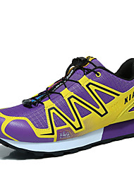 Women's Hiking Shoes Leather / Tulle Black / Blue / Purple