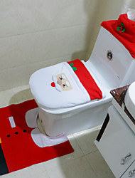 1Set Modern Christmas Santa Claus Bathroom  Toilet Seat Cover Decoration Snowman Chair for Home Holiday Gift Supplies