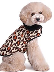 Cat / Dog Jacket / Vest Multicolor Dog Clothes Winter / Spring/Fall Leopard Fashion / Keep Warm
