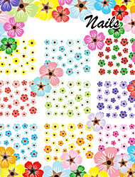 1PCS  3D Sticker Decal Imitation Of Natural Plant Dried Plum Daisy Water Transfer Printing Nail Stickers