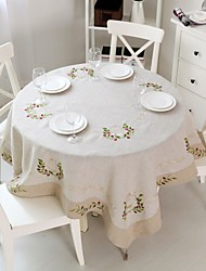 Round Tablecloth Nature Linen Tablecloth Round 180cm (75'')