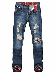 2015 New hole jeans fashion designer brand men jeans denim pants