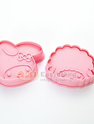 Cute Cartoon Animal 3D Biscuit Mold Little Red Riding Hood Cookie Cutters and Stamps