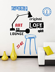 Wall Stickers Wall Decals, Creative Original Table Lamp PVC Wall Stickers