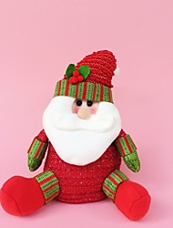 "25CM/10"" Christmas Decoration Gift Standing Santa Claus Doll Plush Toy New Year Gift"
