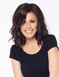 Women's Fashionable Short Dark Mixed color Wigs with Side Bang
