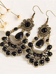 Earring Drop Earrings Jewelry Women Alloy 2pcs Black