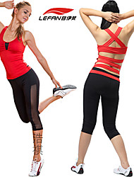 LEFAN® Yoga Clothing Sets/Suits Yoga Pants+Yoga Tops Breathable/Stretch/Sweat-wicking/Softness/Lightweight