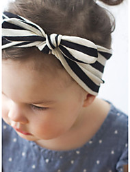 Kid's Cute Stripe Rabbit Ears Elastic Headband