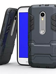 Plastic and TPU 2 in 1 Case Cover with Stand Armor Back Case Shockp for Motorola Moto G3