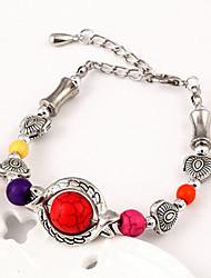 Fashion Women European Style Multicolor Beads Elasticity Bracelet(Random Color)