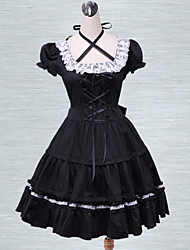 Cotton Black Lace Cosplay Lolita Dress
