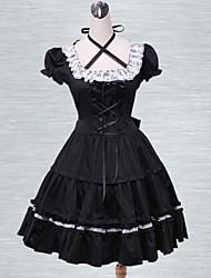 katoen zwart kant cosplay lolita jurk