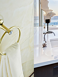 "Towel Ring Oil Rubbed Bronze Wall Mounted 180 x 180 x 90mm (7.08 x 7.08 x 3.54"") Brass Contemporary"
