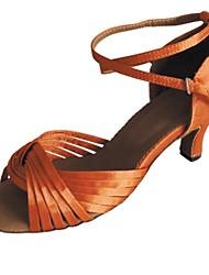 Customized Women's Latin Sandal Cusotmized Heel Salsa Shoe More Colors