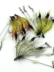10 / 30 pcs Leurre souple Spinnerbaits leurres de pêche Leurre souple Ecrevisses / CrevetteBlanc Jaune Couleurs Aléatoires Transparente