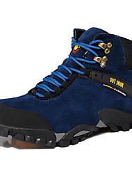 Men's Hiking Shoes Suede Black / Blue