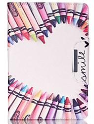 conception spéciale nouveauté cas folio cuir PU dessin de couleur ou un motif étui pour iPad (2017) Pro10.5 9.7 Air Air2 iPad234 mini 1234