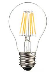 A60 6w e27 600lm Ampoule à incandescence à LED chromée à chaud / refroidissement à 360 degrés (ac220-240v)