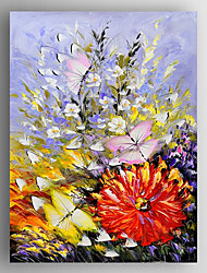Oil Painting Flowers and Butterflies Painting Hand Painted Canvas with Stretched Framed Ready to Hang