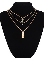 Jewelry Pendant Necklaces / Layered Necklaces Wedding / Party / Daily / Casual Alloy 1pc Women Wedding Gifts