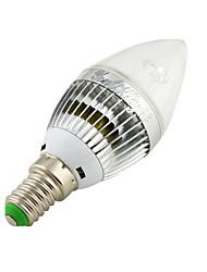 3W E14 LED Kerzen-Glühbirnen C35 3 High Power LED 260 lm Warmes Weiß / Kühles Weiß Dekorativ AC 220-240 / AC 110-130 V 1 Stück