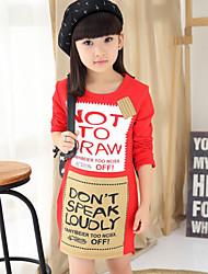 Vestido Chica de - Primavera / Otoño - Algodón - Negro / Rojo / Gris