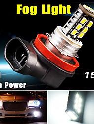 xeno puro bianco h11 15w alto potere ha condotto le lampadine della nebbia di DRL / testa di guida noi luce 12V
