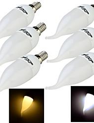 3W E14 Luzes de LED em Vela C35 8 SMD 2835 200 lm Branco Quente / Branco Frio Decorativa AC 220-240 V 6 pçs