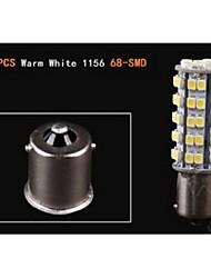 10x branco morno 1156 BA15S reboque rv levaram luzes de lâmpadas pisca-pisca 68 smd reverso