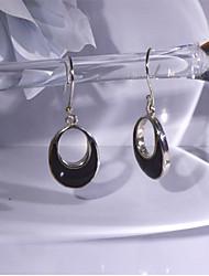 moda prata 925 elegante brincos de obsidiana da mulher