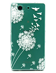 White dandelion Pattern TPU Relief Back Cover Case for Sony Xperia Z3 Compact