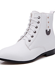 Men's Spring / Fall / Winter Pointed Toe / Motorcycle Boots / Combat Boots Leather / Leatherette Outdoor / Casual / Athletic Flat Heel