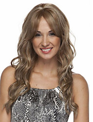 Fashion Lady Long Blonde Curly Cosplay Full Wigs Top Quality