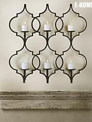 e-FOYER de décoration murale d'art de mur en métal, torche forme chandelier décoration murale un pcs